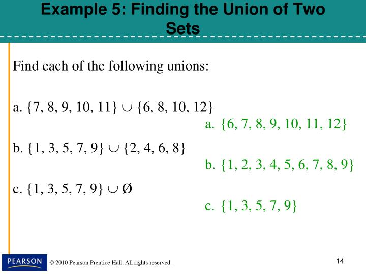 Find each of the following unions: