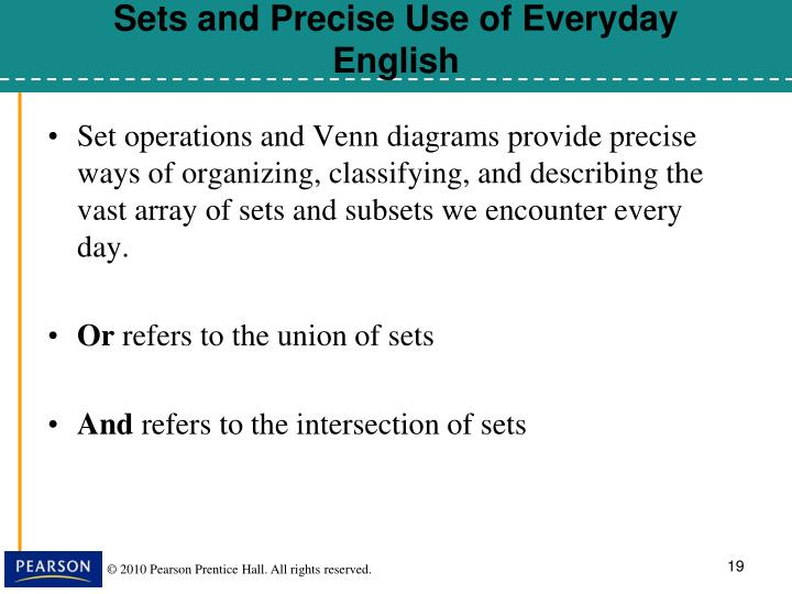 Sets and Precise Use of Everyday English