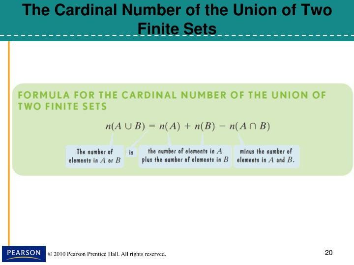 The Cardinal Number of the Union of Two Finite Sets