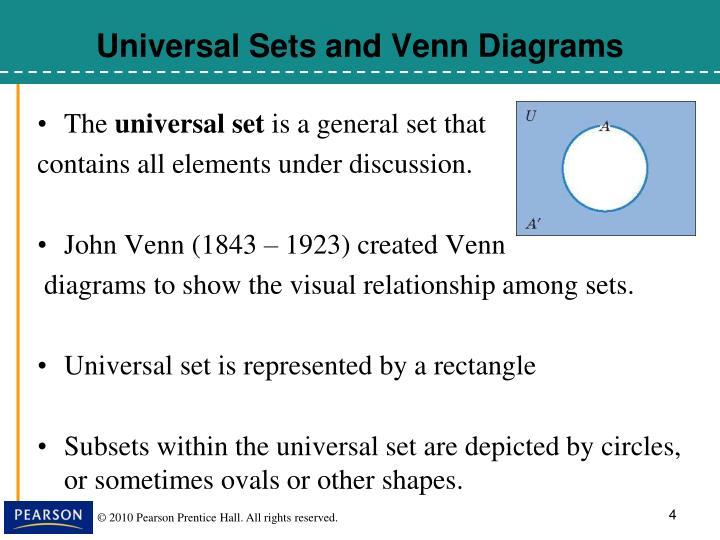 Universal Sets and Venn Diagrams