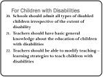 for children with disabilities