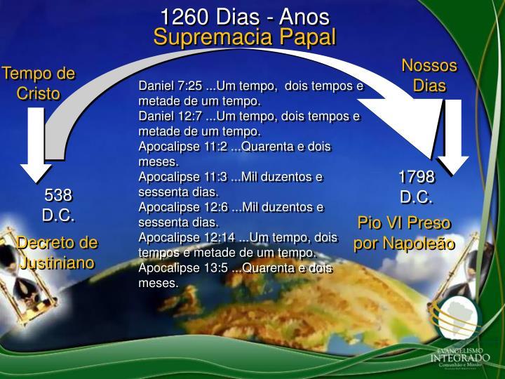 1260 Dias - Anos