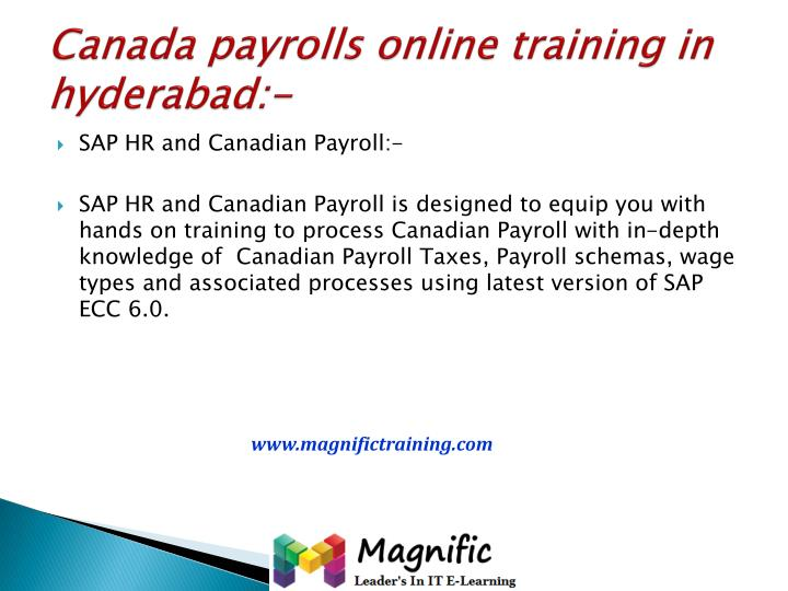 Canada payrolls online training in hyderabad