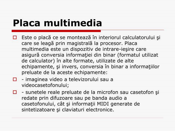 Placa multimedia