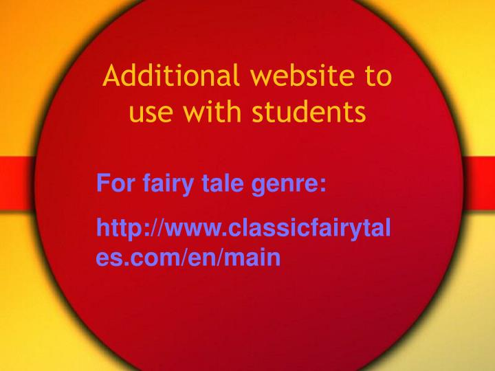 Additional website to use with students