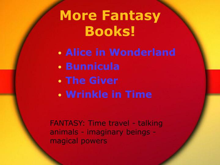 More Fantasy Books!