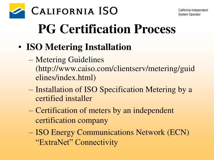 ISO Metering Installation