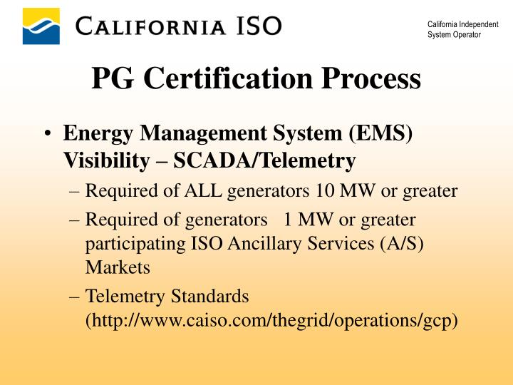 Energy Management System (EMS)   Visibility – SCADA/Telemetry