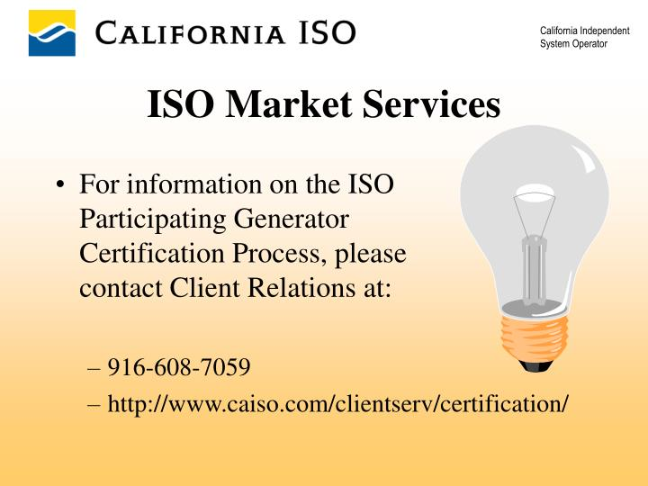 ISO Market Services