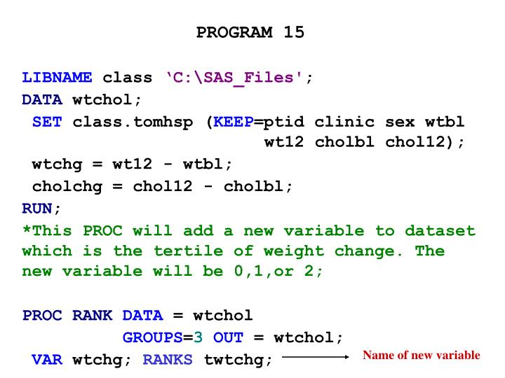 PROGRAM 15