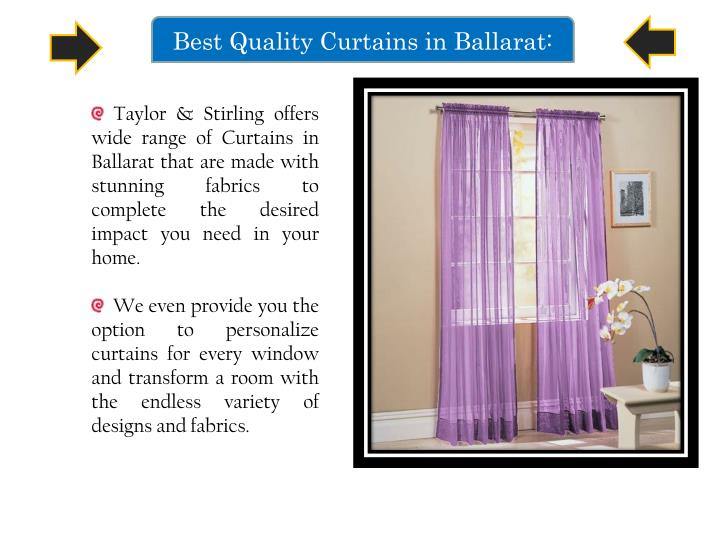 Best Quality Curtains in Ballarat: