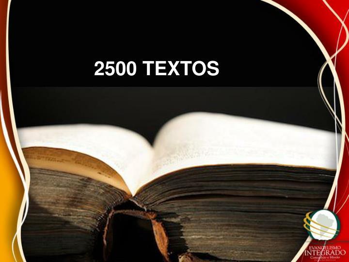 2500 TEXTOS