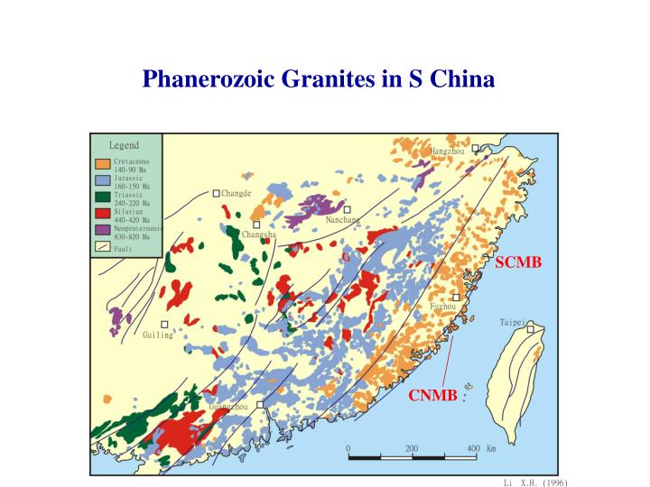 Phanerozoic Granites in S China