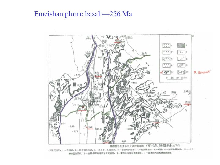 Emeishan plume basalt—256 Ma