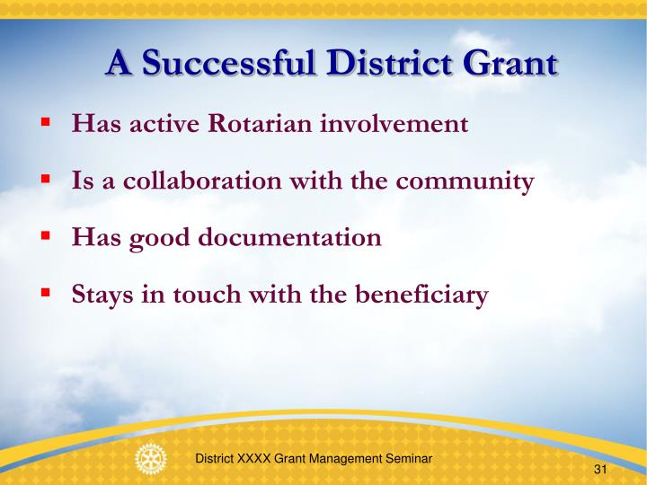 A Successful District Grant