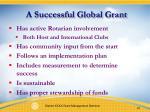 a successful global grant