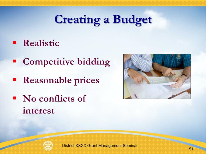 Creating a Budget