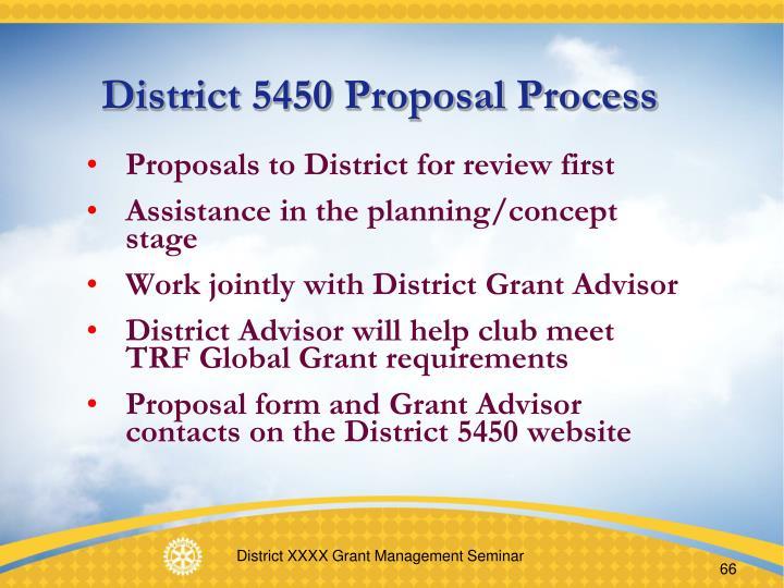 District 5450 Proposal Process