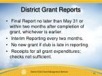 district grant reports