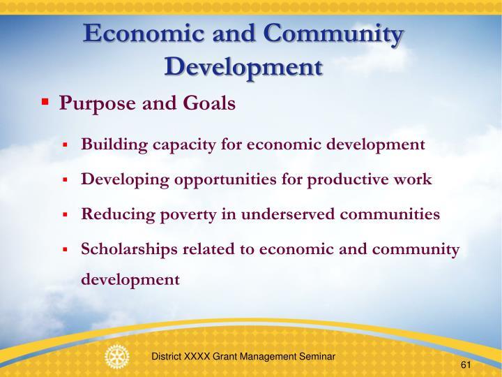 Economic and Community Development
