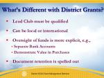 what s different with district grants1