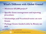 what s different with global grants1
