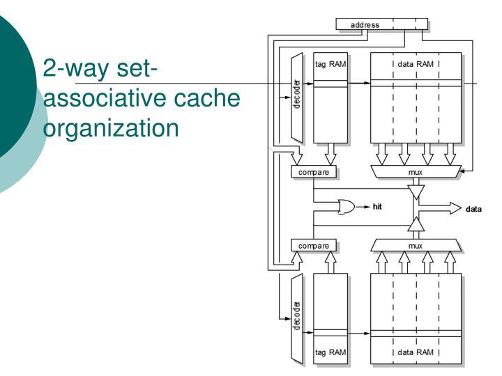 2-way set-associative cache organization