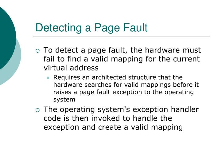 Detecting a Page Fault
