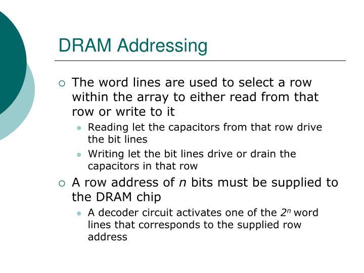 DRAM Addressing