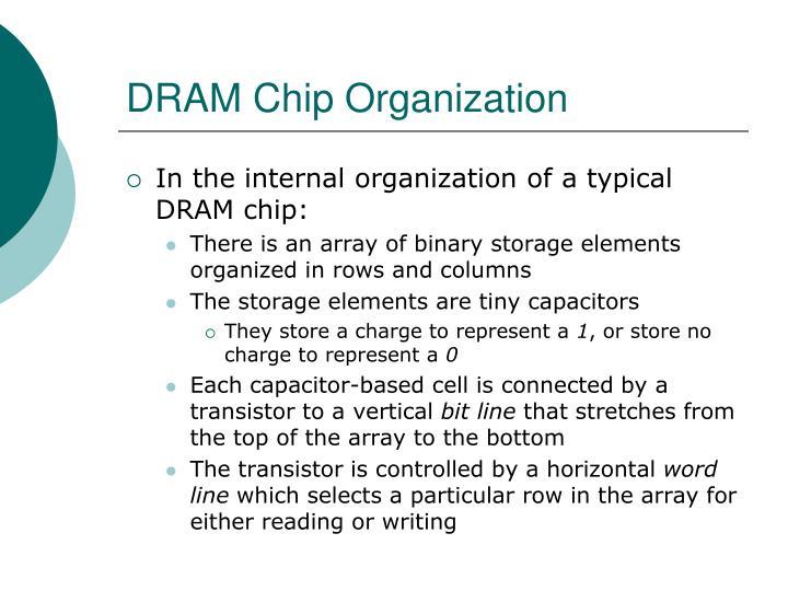 DRAM Chip Organization