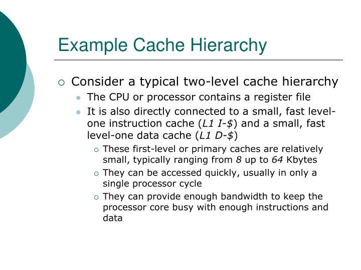 Example Cache Hierarchy