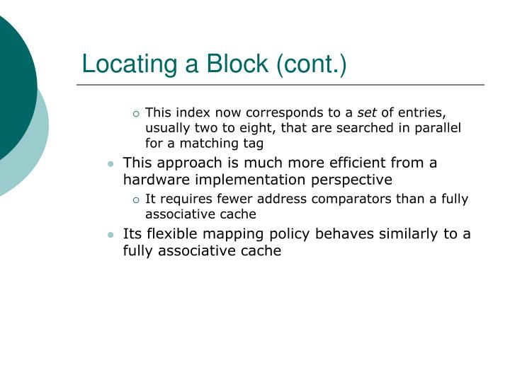 Locating a Block (cont.)