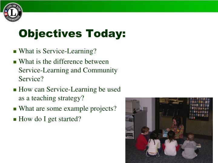 Objectives today