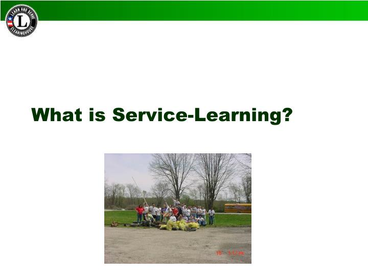 What is service learning1