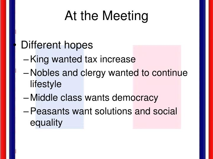 At the Meeting