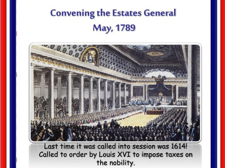 Convening the Estates General