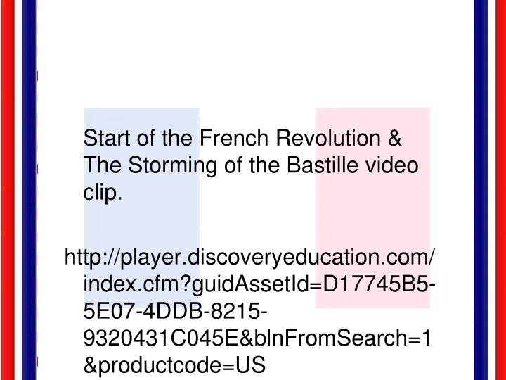 Start of the French Revolution & The Storming of the Bastille video clip.