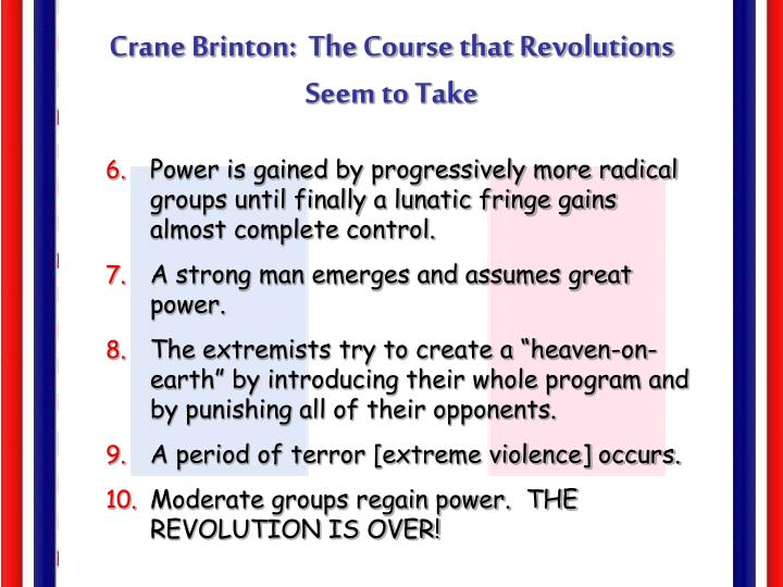 Crane Brinton:  The Course that Revolutions Seem to Take