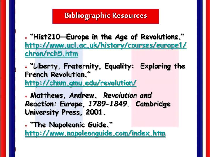 Bibliographic Resources