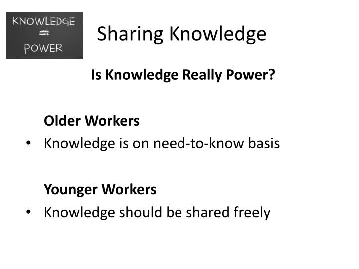 Sharing Knowledge