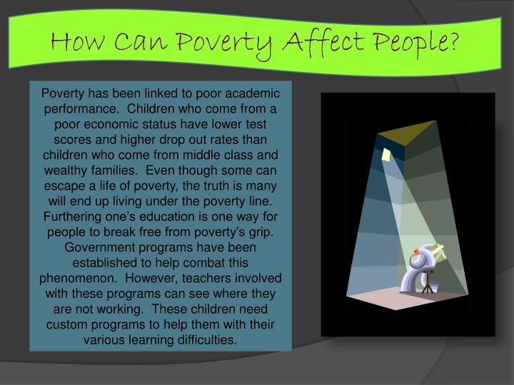How Can Poverty Affect People?
