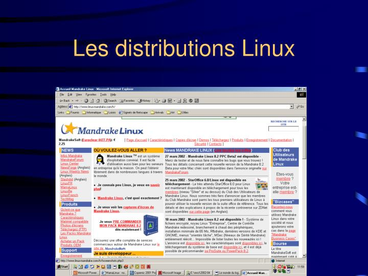 Les distributions Linux
