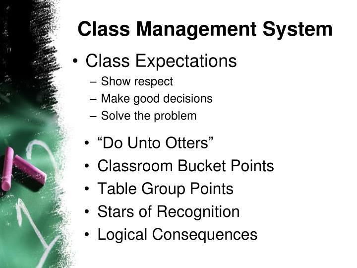 Class Management System