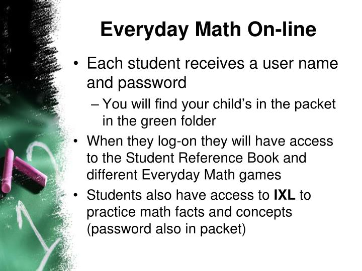 Everyday Math On-line