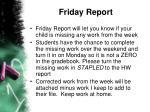friday report