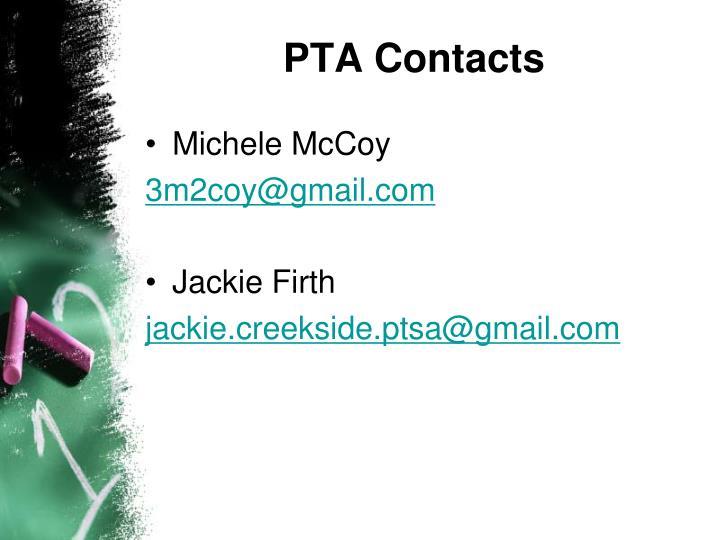 PTA Contacts