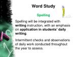 word study1