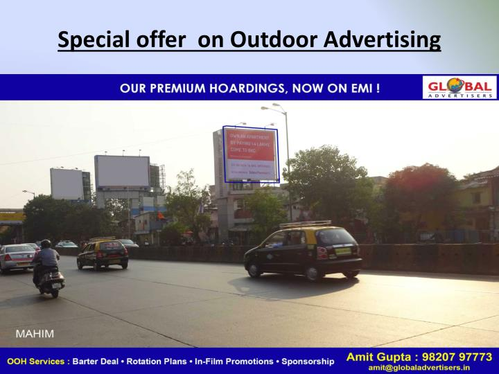 Special offer  on Outdoor Advertising