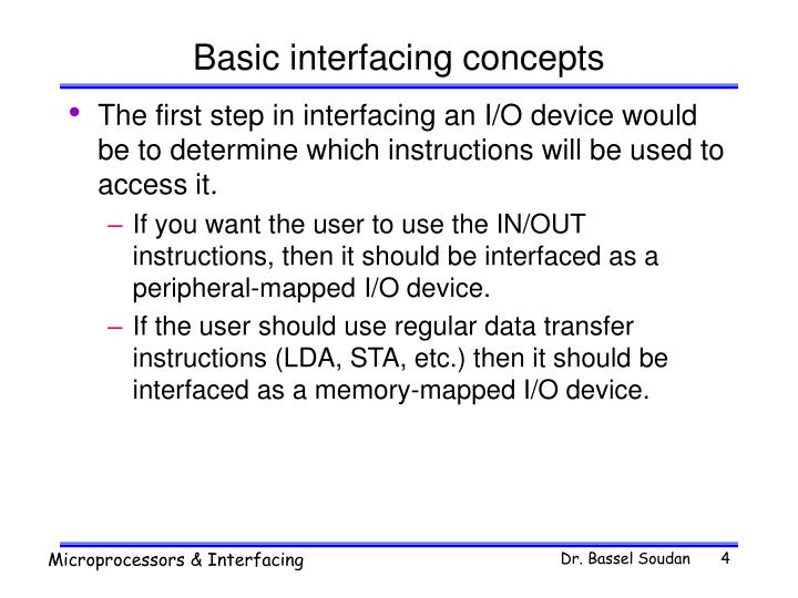 Basic interfacing concepts