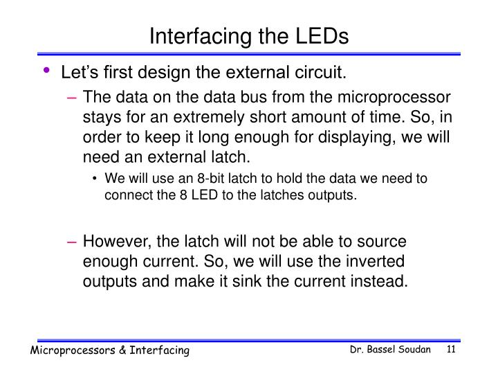 Interfacing the LEDs